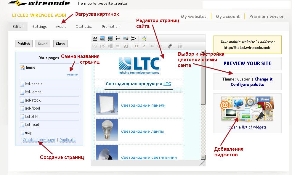 Таблица с картинками на сайте речь